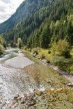 Moll river near Jungfernsprung waterfall close to Heiligenblut, Carinthia, Austria. Stock Images