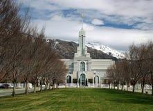 Molla in anticipo LDS della forcella americana mormonica del tempio di Timpanogas Utah Fotografie Stock Libere da Diritti