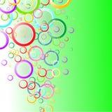Molla astratta del fondo con i cerchi di colore Immagine Stock