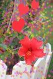 Fiore e cuori della molla. Immagine Stock Libera da Diritti