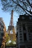 Molla di vista della via della torre Eiffel Fotografie Stock Libere da Diritti