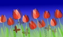 Molla luminosa astratta, modello floreale illustrazione vettoriale