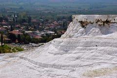 Molla minerale e formazione naturale a partire dai giacimenti del carbonato di calcio Immagini Stock Libere da Diritti