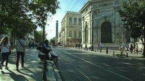 Mollafenari Mh 街道,伊斯坦布尔 免版税库存照片