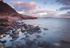 Molle岩石海岸线 免版税库存图片