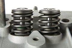 Molle di valvola di manutenzione del motore Immagini Stock