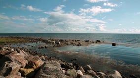Molle rocky beach stock video footage