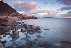 Molle rocky coastline Royalty Free Stock Images