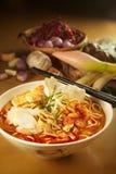 Mollera de Laksa del curry Foto de archivo libre de regalías