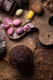 Mollete de la nuez del chocolate Foto de archivo