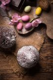Mollete de la nuez del chocolate Foto de archivo libre de regalías