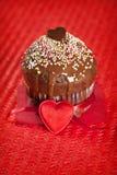 Mollete de la tarjeta del día de San Valentín fotografía de archivo libre de regalías