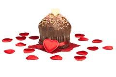 Mollete de la tarjeta del día de San Valentín Imagen de archivo libre de regalías