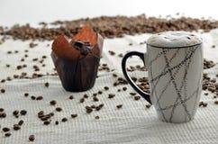 Mollete del café y del chocolate Fotos de archivo libres de regalías