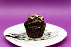 Mollete del chocolate Fotografía de archivo