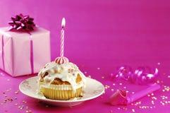 Mollete del cumpleaños Foto de archivo libre de regalías