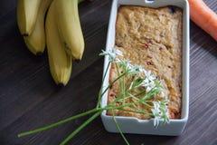 Mollete del plátano y de la zanahoria Foto de archivo