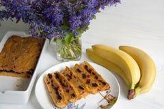 Mollete del plátano y de la zanahoria fotos de archivo libres de regalías