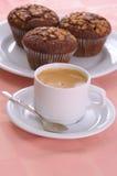 Mollete y café foto de archivo libre de regalías