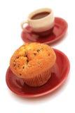 Mollete y taza de café. imagenes de archivo