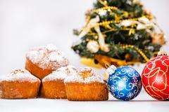 Molletes, bolas de la Navidad Imagen de archivo libre de regalías