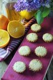 Molletes con la fruta Foto de archivo