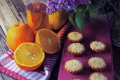 Molletes con la fruta Foto de archivo libre de regalías