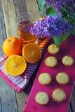 Molletes con la fruta Fotografía de archivo libre de regalías
