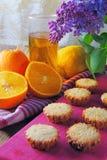 Molletes con la fruta Imagenes de archivo