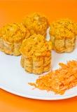 Molletes con la zanahoria en naranja Imagen de archivo libre de regalías