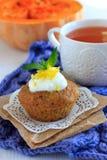Molletes de la calabaza con la salsa del limón Fotos de archivo libres de regalías