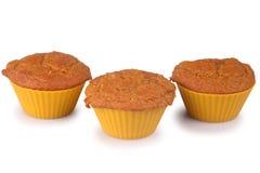 Molletes de la torta de zanahoria Fotografía de archivo
