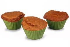 Molletes de la torta de zanahoria Imagen de archivo libre de regalías