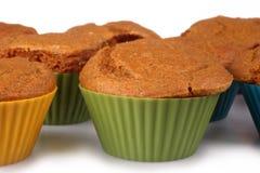 Molletes de la torta de zanahoria Foto de archivo libre de regalías