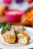 Molletes del queso con la calabaza Fotos de archivo