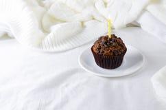 Molletes o capkakes con el chocolate Imagenes de archivo