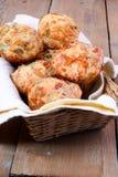 Molletes triples del queso Foto de archivo libre de regalías
