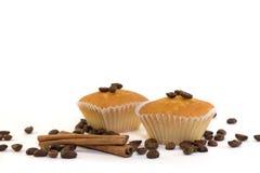 Molletes y granos de café Fotografía de archivo