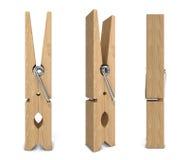 Molletta da bucato di legno Immagine Stock