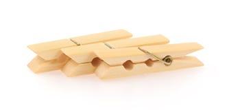 Mollette da bucato di legno Fotografia Stock Libera da Diritti