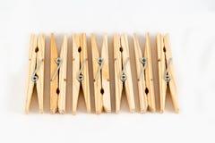 Mollette da bucato di legno Fotografie Stock