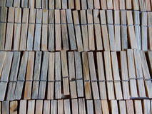 Mollette da bucato di legno Immagini Stock