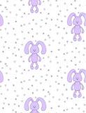 Mollig konijntjespatroon royalty-vrije illustratie