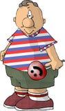 Mollige jongen met een uitloper stock illustratie