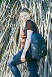 Mollige junge Frau Lizenzfreie Stockfotos