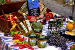 Mollorca-Markt-Tabelle Lizenzfreies Stockfoto