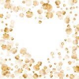 Molluschi bivalvi della perla di vettore delle conchiglie dell'oro royalty illustrazione gratis