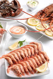 Mollusques et crustacés assortis Photographie stock