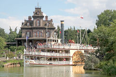 Molly Brown Riverboat. MARNE-LA-VALLEE, FRANCE - July 1, 2011 - The Molly Brown Riverboat / Paddleboat on the Rivers of the Far West at Thunder Mesa Riverboat Royalty Free Stock Images