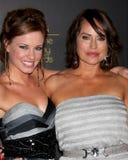 Molly Burnett, Chappell cristalino llega los 2012 Premios Emmy diurnos foto de archivo
